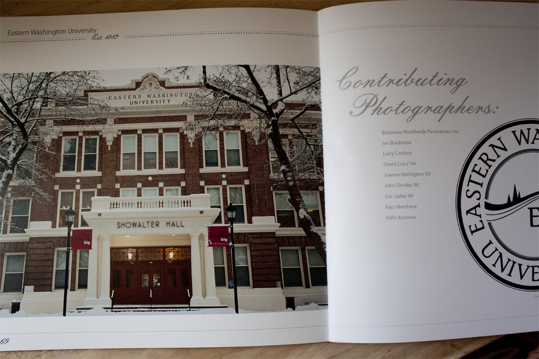 The back of the page listing out photography contributors.